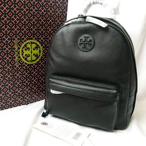Tory Burch Leather Backpack Black